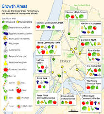 a map nyc infographic local farms in the bronx and what they grow