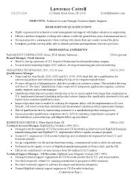 Sample Resume Of A Manager by Resume For A Technical Account Manager Susan Ireland Resumes