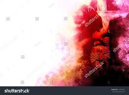 jesus christ on cross crucifixion on stock illustration 611947445