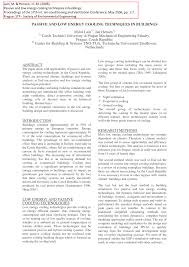 heating ventilating and air conditioning analysis and design passive and low energy cooling techniques in buildings pdf