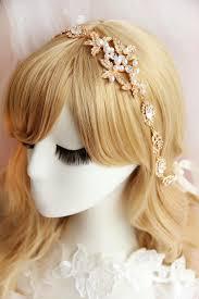 elastic hairband white gold women s rhinestone flower elastic hair band
