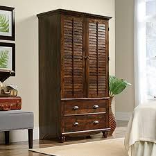 sauder harbor view bookcase with doors antique white sauder harbor view curado cherry armoire 420468 the home depot