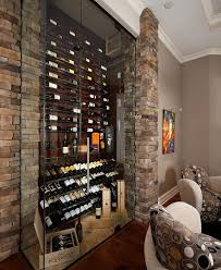 rent basement wine cellar transitional with glass wall