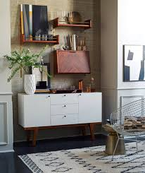 white mid century buffet west elm simplified bee