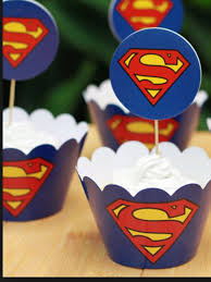 superman cake toppers superman cupcake cup cake cases toppers wrappers party decoration
