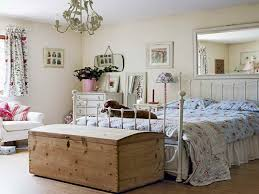 bedroom vintage wooden box and metal bed frame beautify