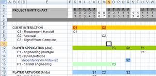 Gantt Chart In Excel Template Free 3 Gantt Chart Excel 2007 Ganttchart Template