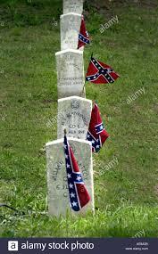 Stars And Bars Flag Civil War Dead In Oakland Cemetery In Atlanta Ga On Confederate