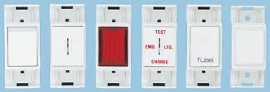 key operated light switch f8027el flush mounting emergency light test switch 240 vac mem