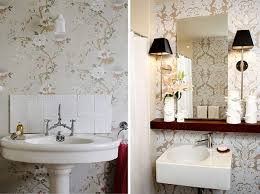 Home Wallpaper Decor by Creative Bathrooms With Wallpaper For Inspirational Home Designing