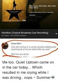 Your Story Meme - who lives who dies who tells your story hamilton original broadway
