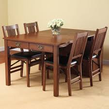 Shaker Style Dining Table And Chairs Square Kitchen And Dining Table Butcher Block Top Shaker
