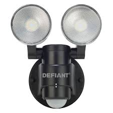 Led Outdoor Spot Lighting by Pool Degree Black Motion Activated Outdoor Flood Light Defiant