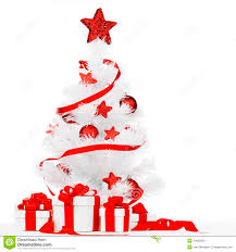 christmas tree with red decor stock photo image 44062638