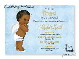 printable baby shower invitations for boys african american boy baby shower invitation little angel
