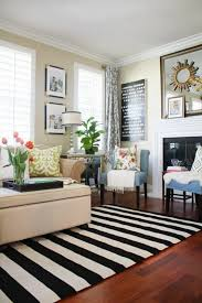 Black And White Floor Rug A New Living Room Rug Stripes For The Win Home Blogger Decor