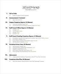 41 meeting agenda format free u0026 premium templates