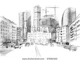drawn building imaginary city pencil and in color drawn building