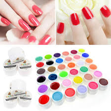 black 26 36 pure color uv gel nail art diy decoration for nail