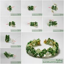 make beaded bracelet images How to make beautiful four leaf clover beaded bracelet fab art diy jpg