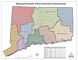 Connecticut On Map Opm Regional Planning Organizations Rpo