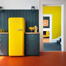 cuisine jaune citron smeg réfrigérateur yellow cuisine jaune yellow