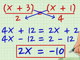 how to cross multiply 8 steps with pictures wikihow