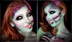 half skull halloween makeup tutorial umakeup