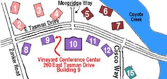 san jose school map svlug meetings directions to cisco s vineyards conference center