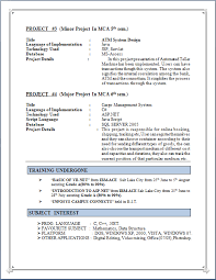 Asp Net Resume Sample by Professional Resume Resume Sample Of M C A Fresher With