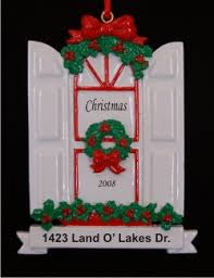 new home window personalized ornaments by