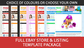ebay template design professional ebay shop store and listing template package