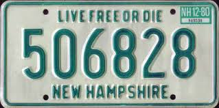 New Hampshire Vanity Plate New Hampshire