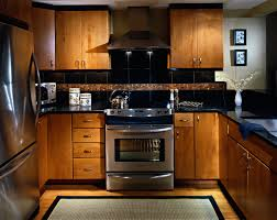 condo kitchen with asian feel slab maple cabinet doors absolute