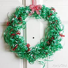 Decorating Christmas Wreath Ribbon by Diy Christmas Wreath Ideas Party City
