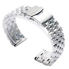 stainless steel bracelet links images Luxury 22 20mm silver black solid link stainless steel watch band jpg