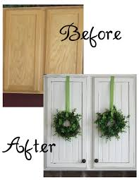hang wreaths on cabinet doors with ease just use command strip