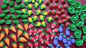 edible cake topper mini royal icing garden veggies ready to ship edible cake