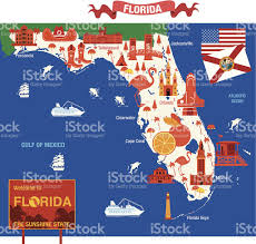 Map Of Jacksonville Florida by Cartoon Map Of Florida Stock Vector Art 476386731 Istock