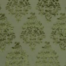 Robert Allen Home Decor Fabric Olive Green Velvet Damask Upholstery Fabric Modern Medallion