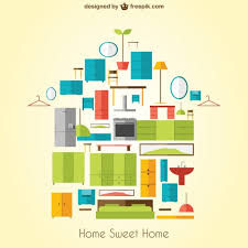 home sweet home interiors home sweet home with furniture vector free
