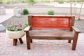 How To Build Patio Furniture Rustic Tailgate Bench Tutorial Addicted 2 Diy