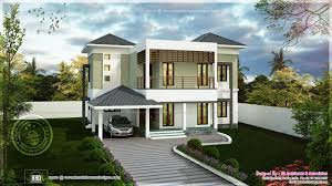 modern two storied house exterior kerala home design and floor