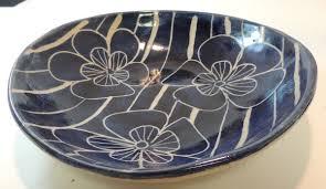 handcrafted mid century modern bowl pamela black paradise