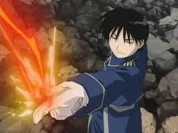 colonel mustang fullmetal alchemist series how can colonel mustang create his