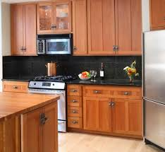 Granite Countertops With Cherry Cabinets Backsplash For Black Granite Countertops And Cherry Cabinets