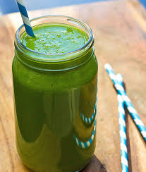 parsley green smoothie with apple orange and banana wishful chef