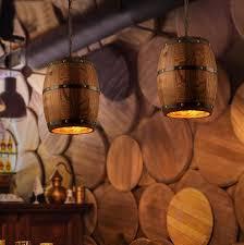 Wohnzimmer Lampe Aus Holz Weishenmen Antikes Holzfass Kronleuchter Amerikanische Ländliche