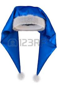 blue santa hat santa claus hat on white background stock photo picture and