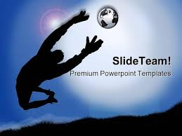 goal keeper sports powerpoint templates and powerpoint backgrounds